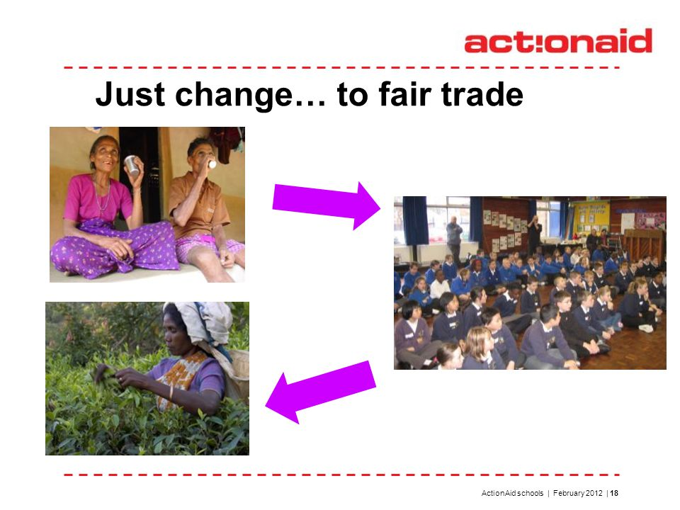 Just change… to fair trade ! ActionAid schools | February 2012 | 18