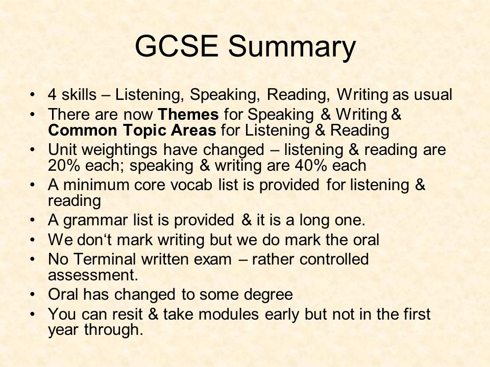 GCSE Specification September 2009