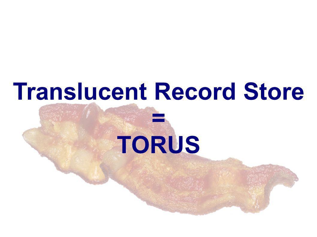 Translucent Record Store = TORUS
