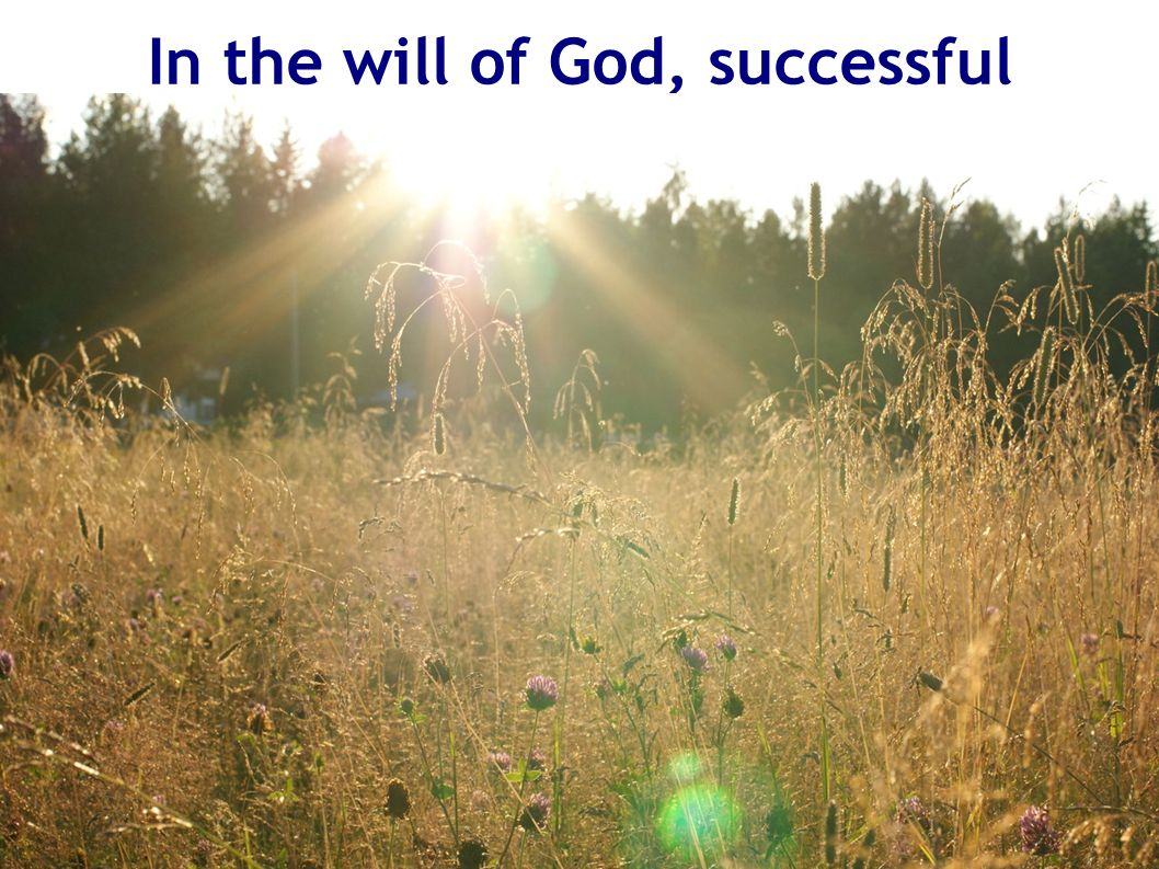 In the will of God, successful