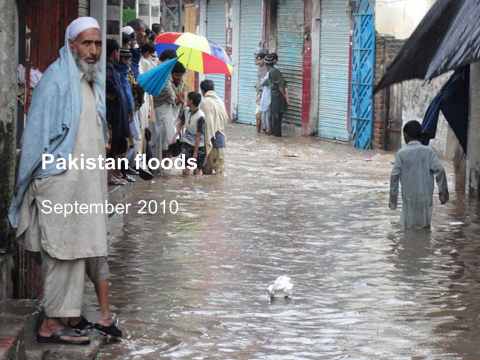 Pakistan floods September 2010
