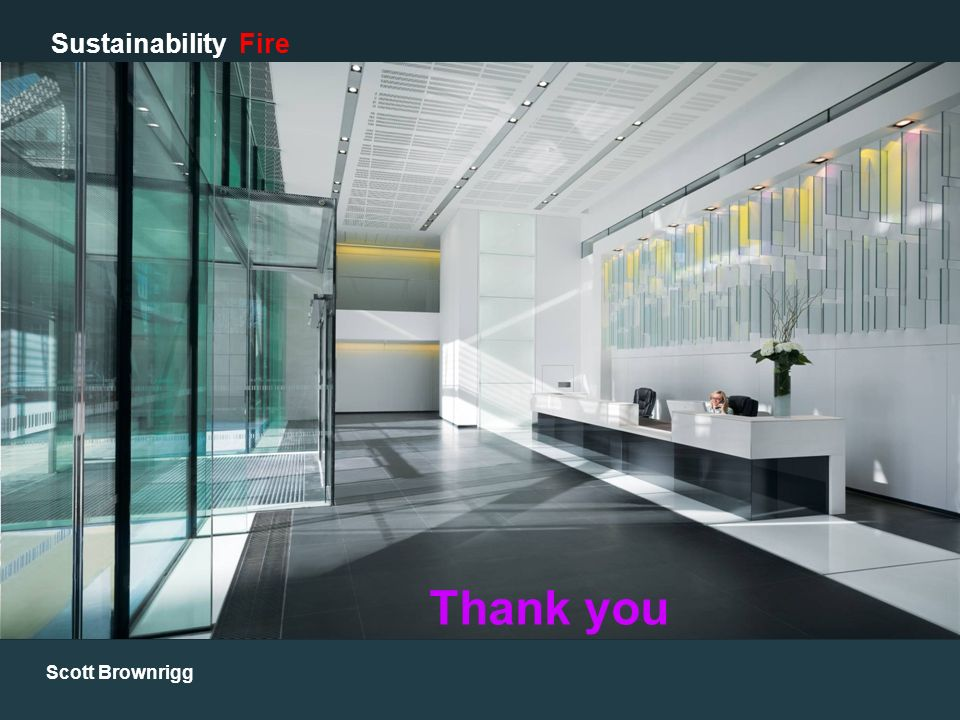 Scott Brownrigg Sustainability Fire Thank you