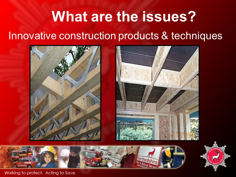 What are the issues Innovative construction products & techniques