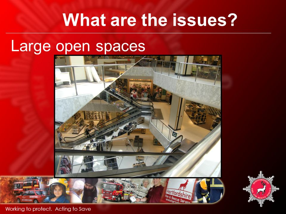 What are the issues Large open spaces