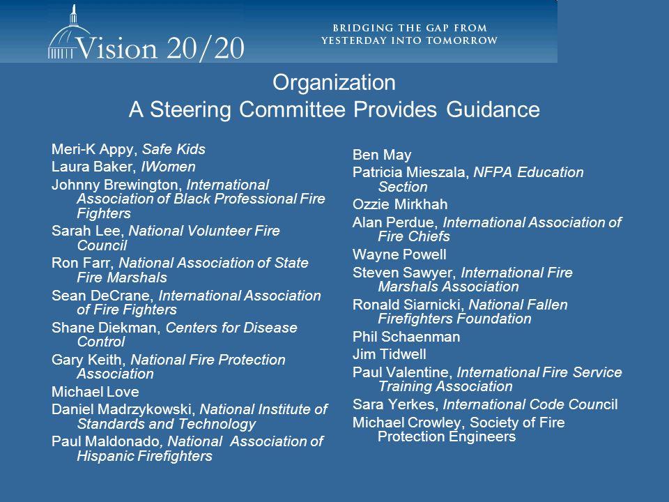 Organization A Steering Committee Provides Guidance Meri-K Appy, Safe Kids Laura Baker, IWomen Johnny Brewington, International Association of Black P