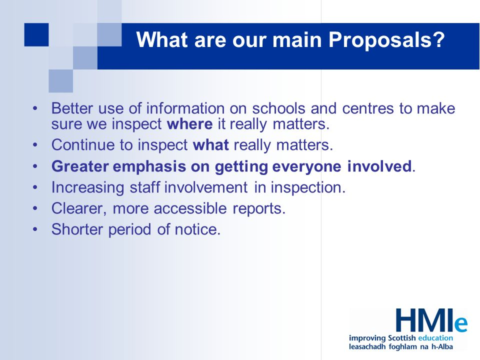 What are our main Proposals.