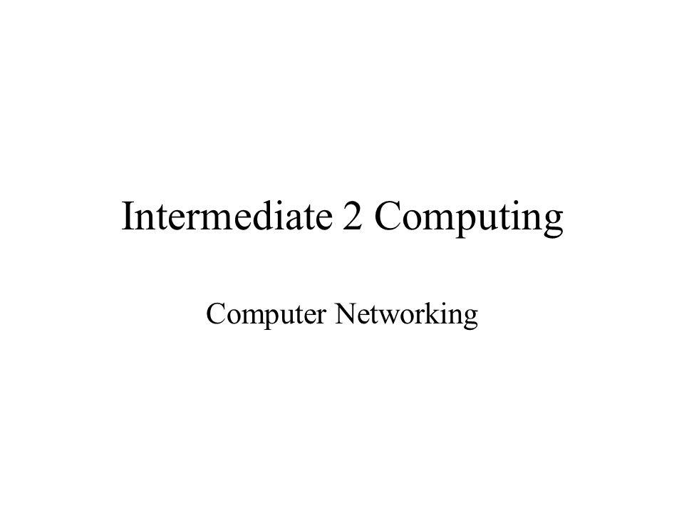 Intermediate 2 Computing Computer Networking