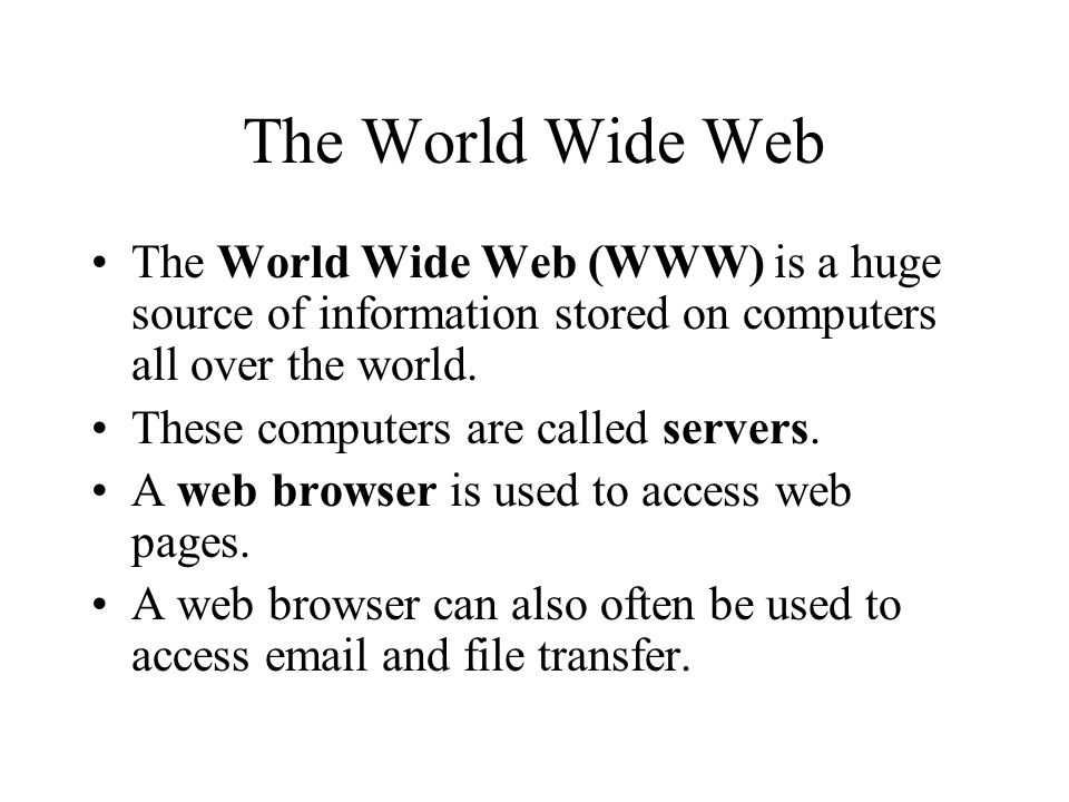 What is a Web Page.A web page is a text document formatted using special tags.