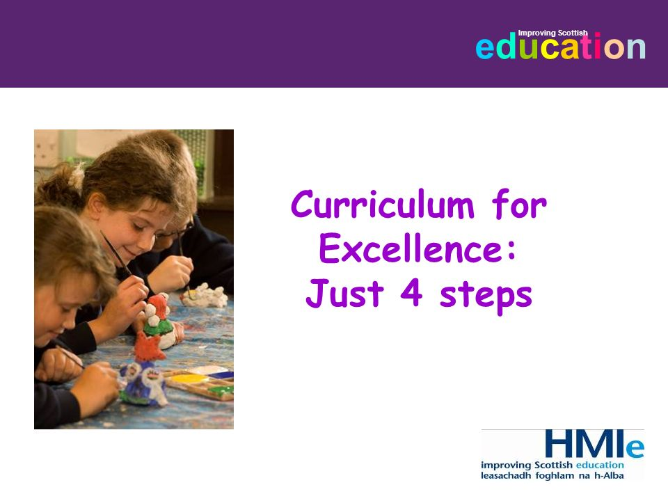educationeducation Curriculum for Excellence: Just 4 steps