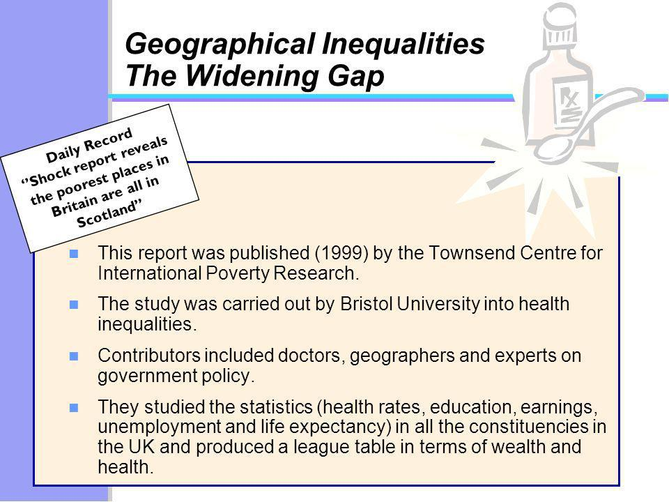 Daily Record Shock report reveals the poorest places in Britain are all in Scotland Geographical Inequalities The Widening Gap n This report was publi