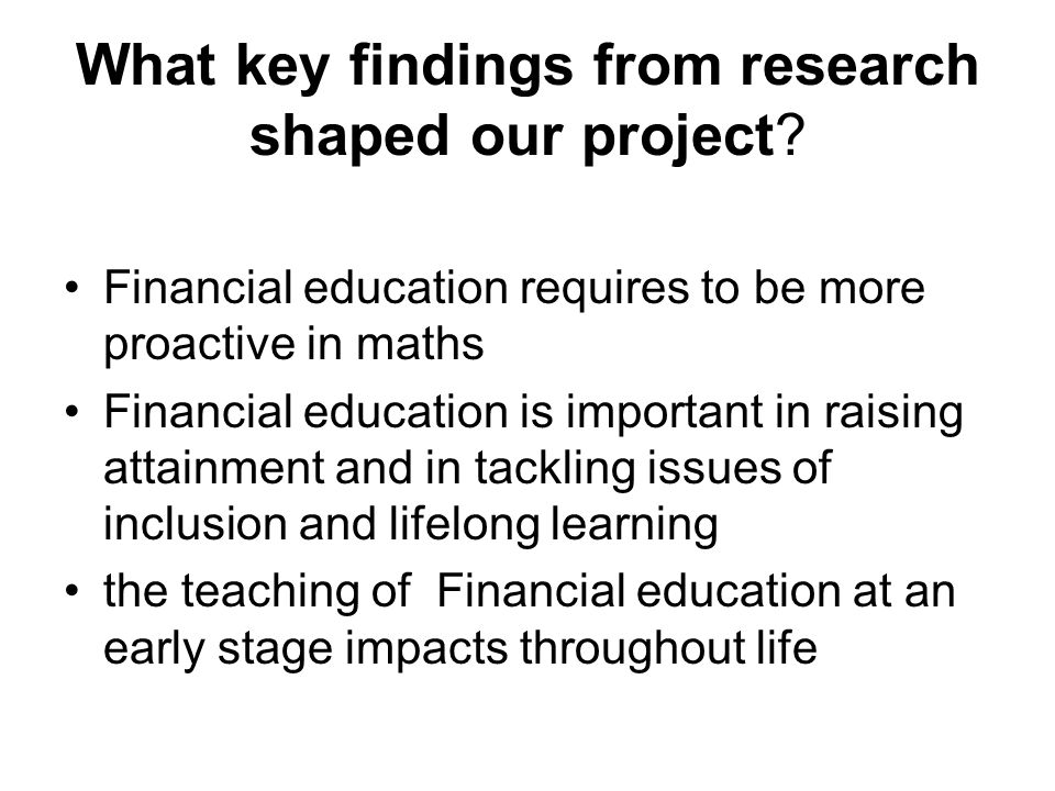 What key findings from research shaped our project.
