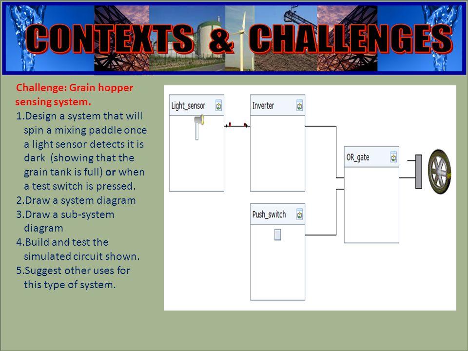 engineering Challenge: Grain hopper sensing system.