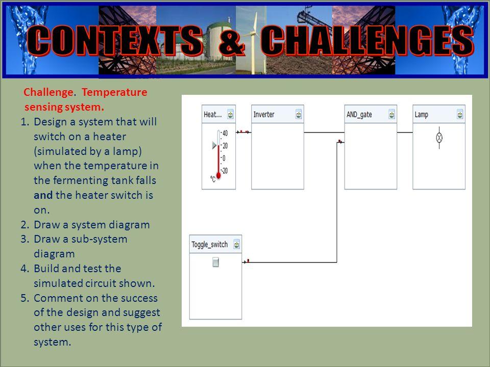 engineering Challenge. Temperature sensing system.