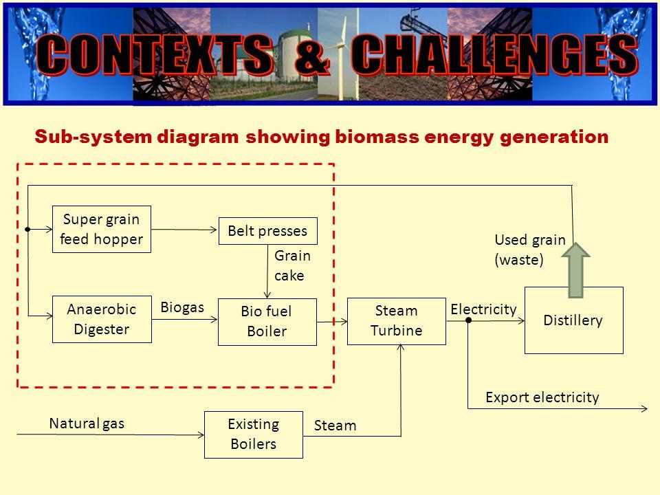 engineering Super grain feed hopper Distillery Bio fuel Boiler Belt presses Steam Turbine Existing Boilers Natural gas Steam Grain cake Electricity Ex
