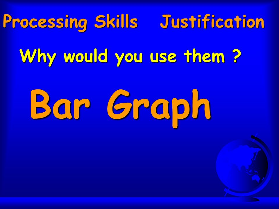 Processing Skills Justification Why would you use them Bar Graph
