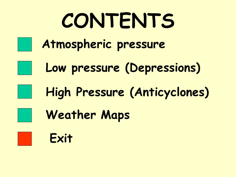 HIGH PRESSURE SYSTEMS High pressure systems are also known as anticyclones