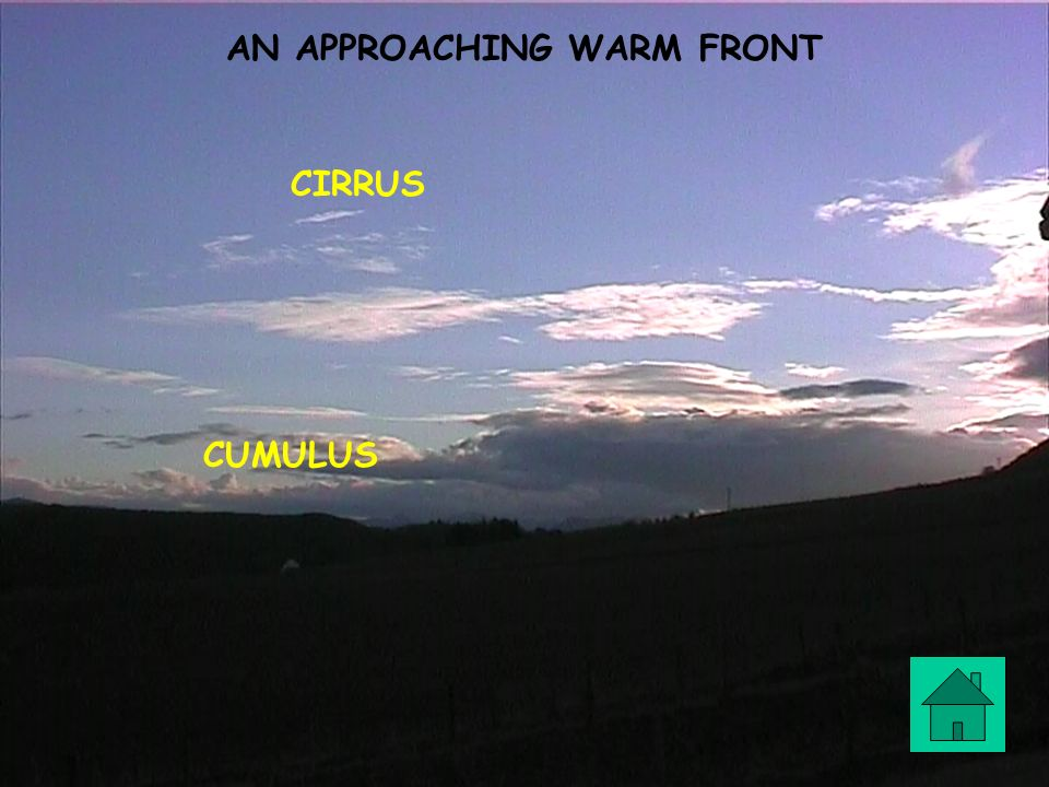 AN APPROACHING WARM FRONT CIRRUS CUMULUS