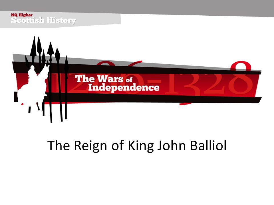 The coronation of John Balliol On 17 November 1292 Edward I made his judgement in favour of John Balliol.
