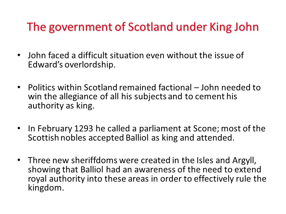 Appeals Edward I made his authority over King John clear when he acted as supreme judge in appeals from the Scottish kings court.