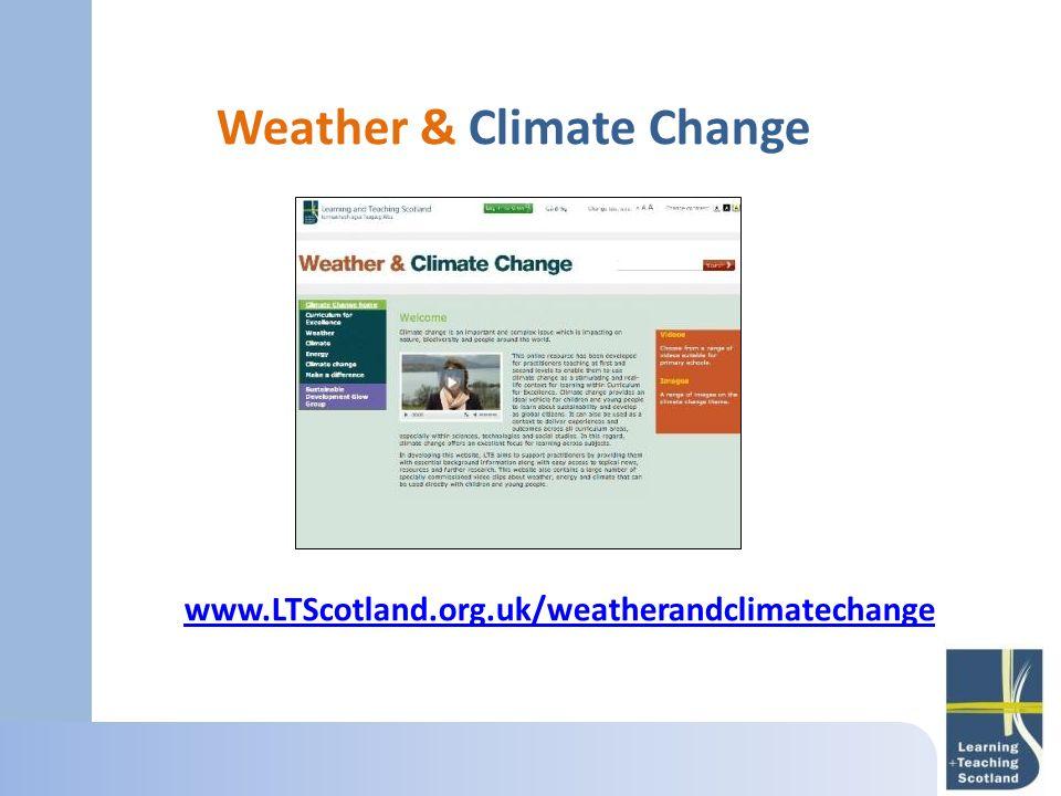 Weather & Climate Change www.LTScotland.org.uk/weatherandclimatechange