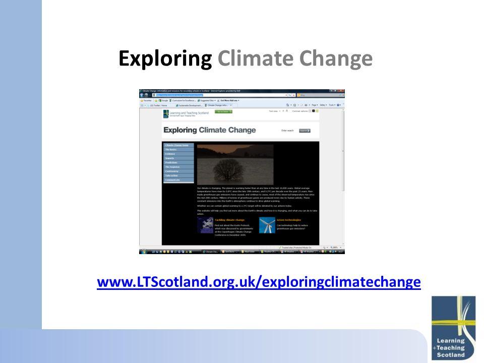 Exploring Climate Change www.LTScotland.org.uk/exploringclimatechange