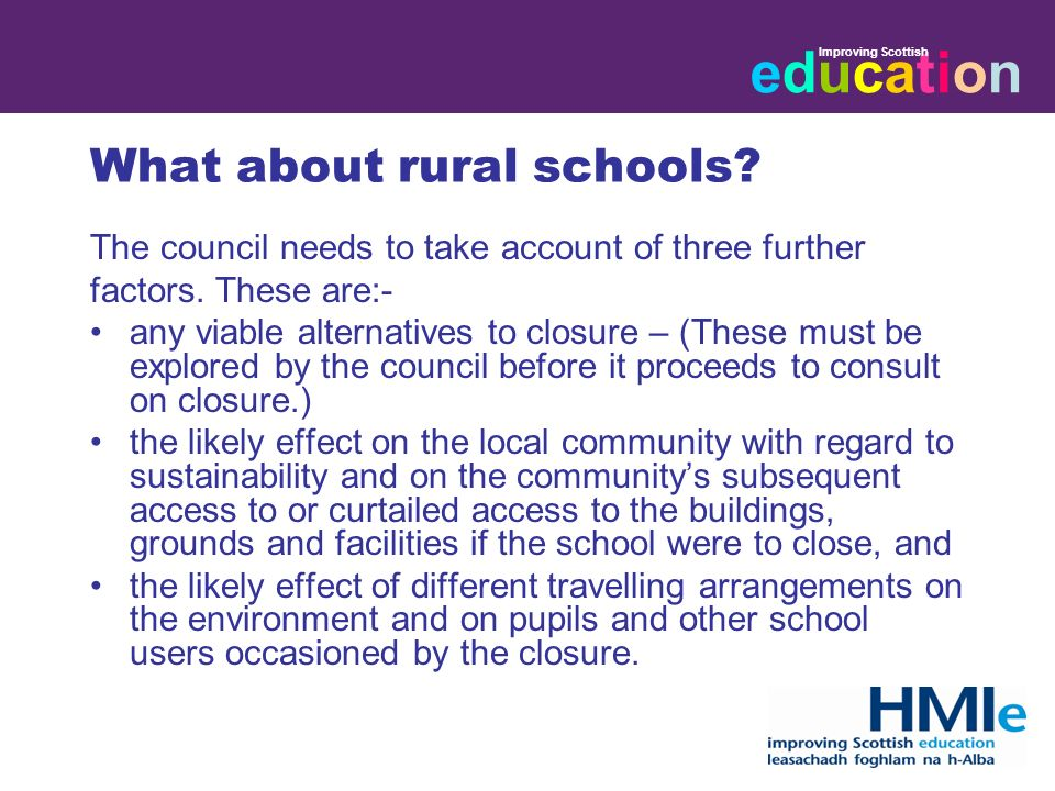 educationeducation Improving Scottish What about rural schools.