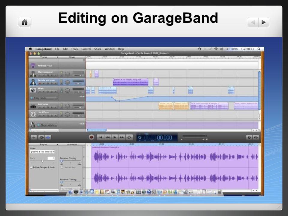 Editing on GarageBand