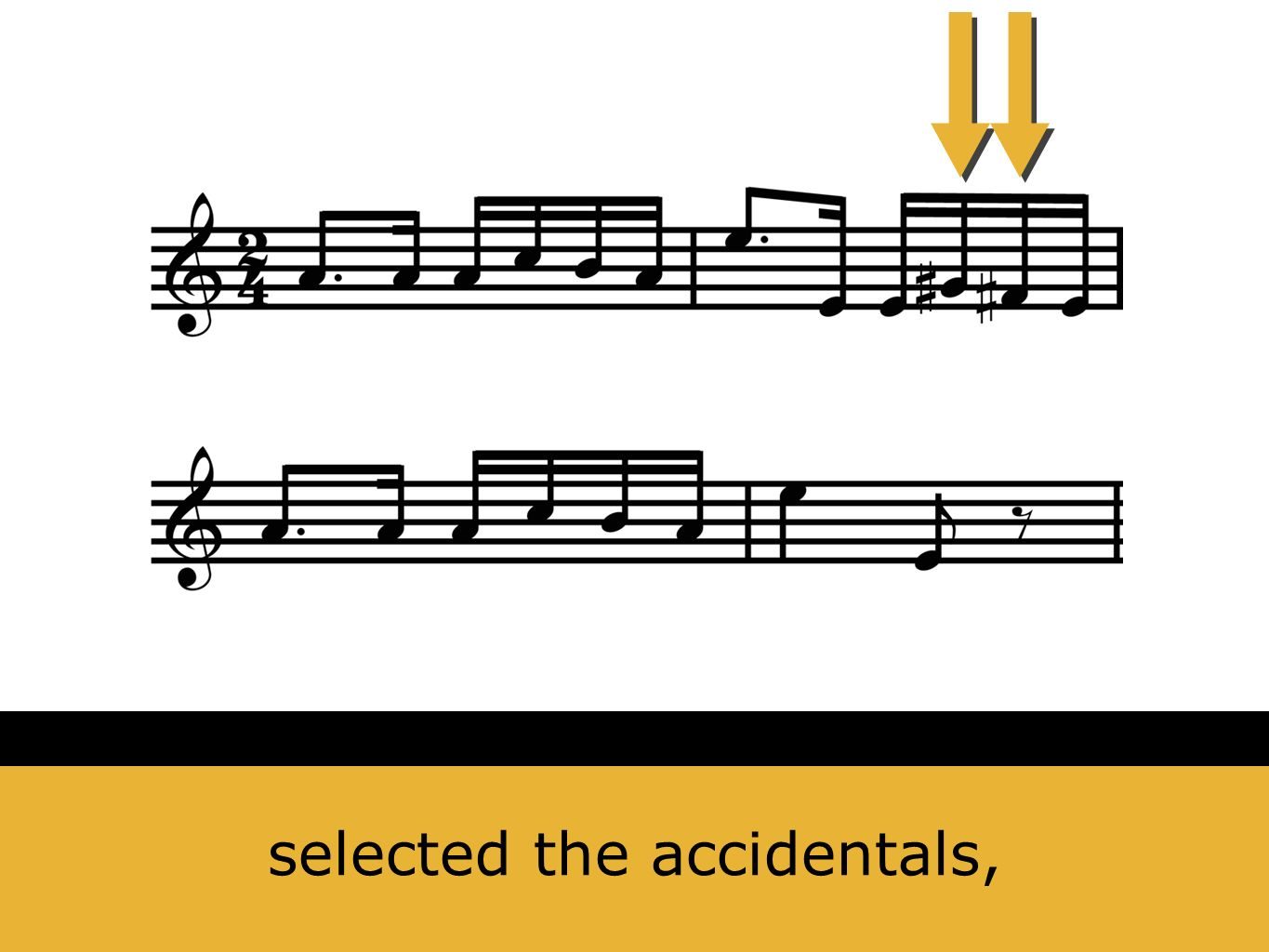 selected the accidentals,