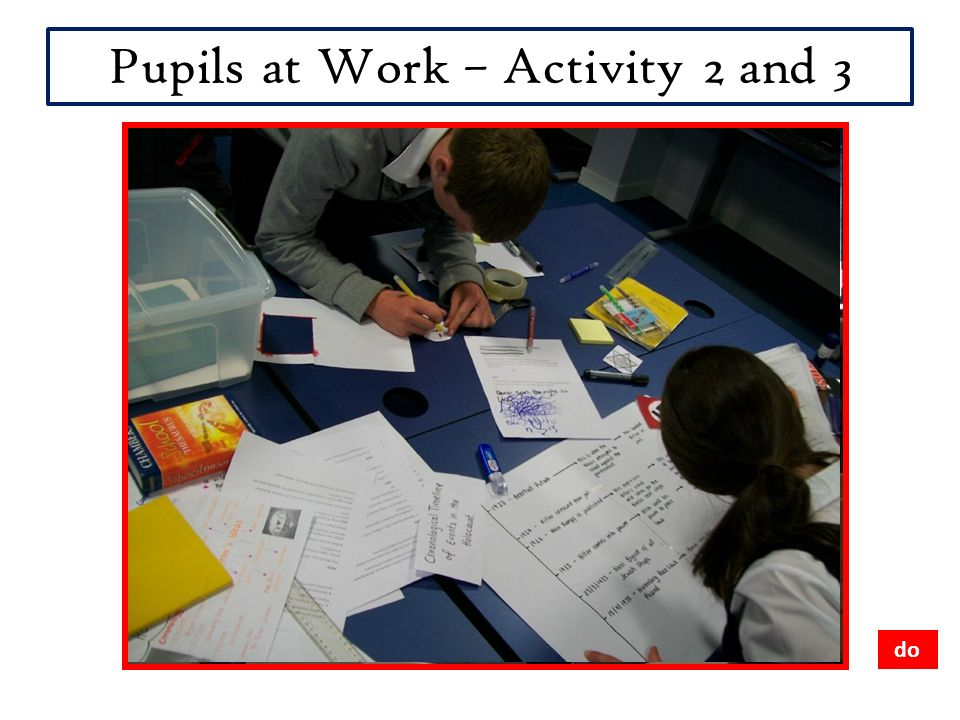 Pupils at Work – Activity 2 and 3 do