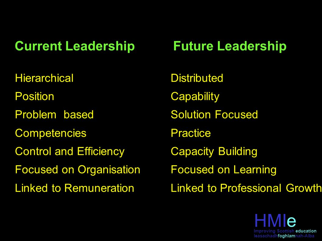 Current Leadership Hierarchical Position Problem based Competencies Control and Efficiency Focused on Organisation Linked to Remuneration Future Leade