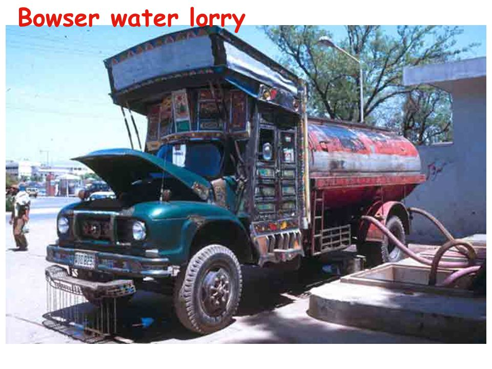 Bowser water lorry