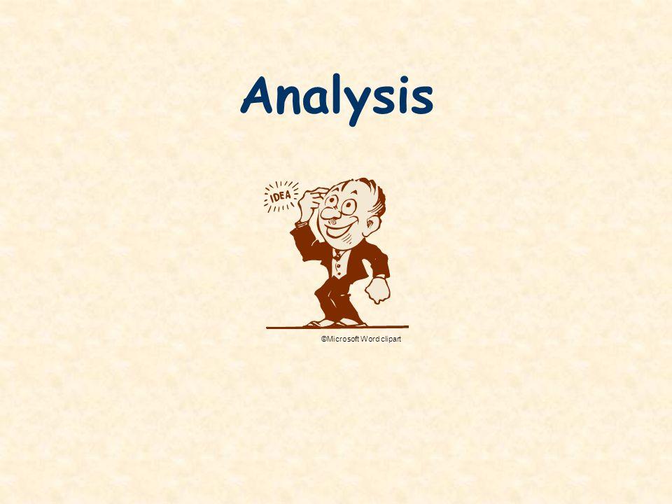 Analysis ©Microsoft Word clipart