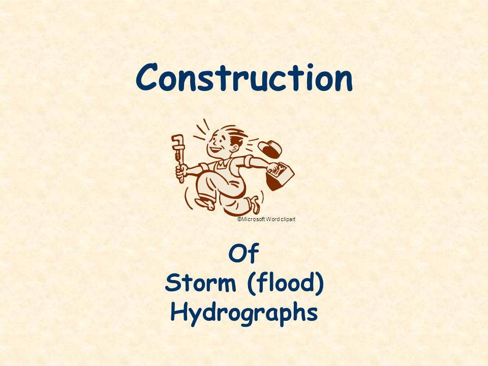 Construction Of Storm (flood) Hydrographs ©Microsoft Word clipart