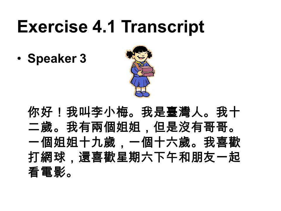 Exercise 4.1 Transcript Speaker 3