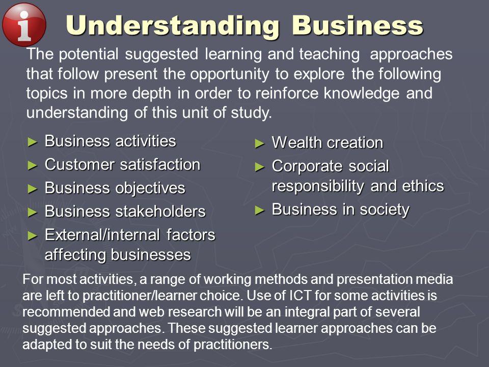 Business activities Business activities Customer satisfaction Customer satisfaction Business objectives Business objectives Business stakeholders Busi