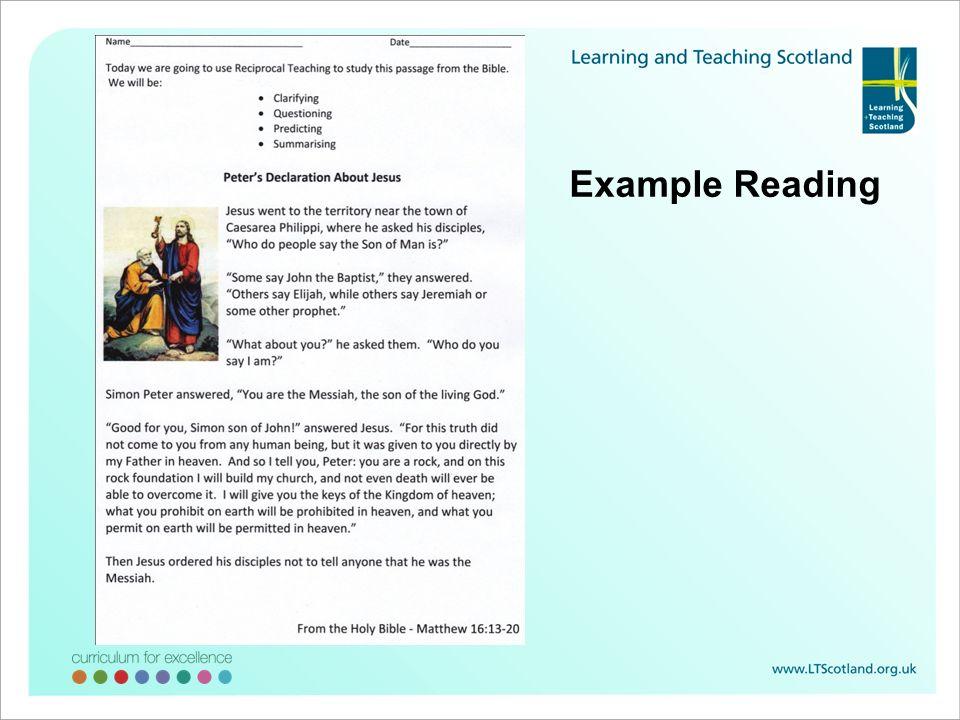 Example Reading