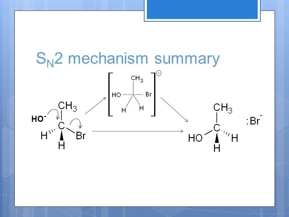 S N 2 mechanism summary HO -
