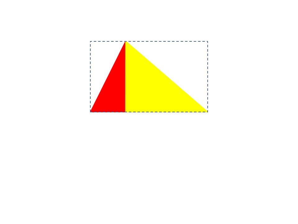 Through an investigative approach, learners should establish that the area of a triangle is one half that of the corresponding rectangle, a formula can then be discussed.