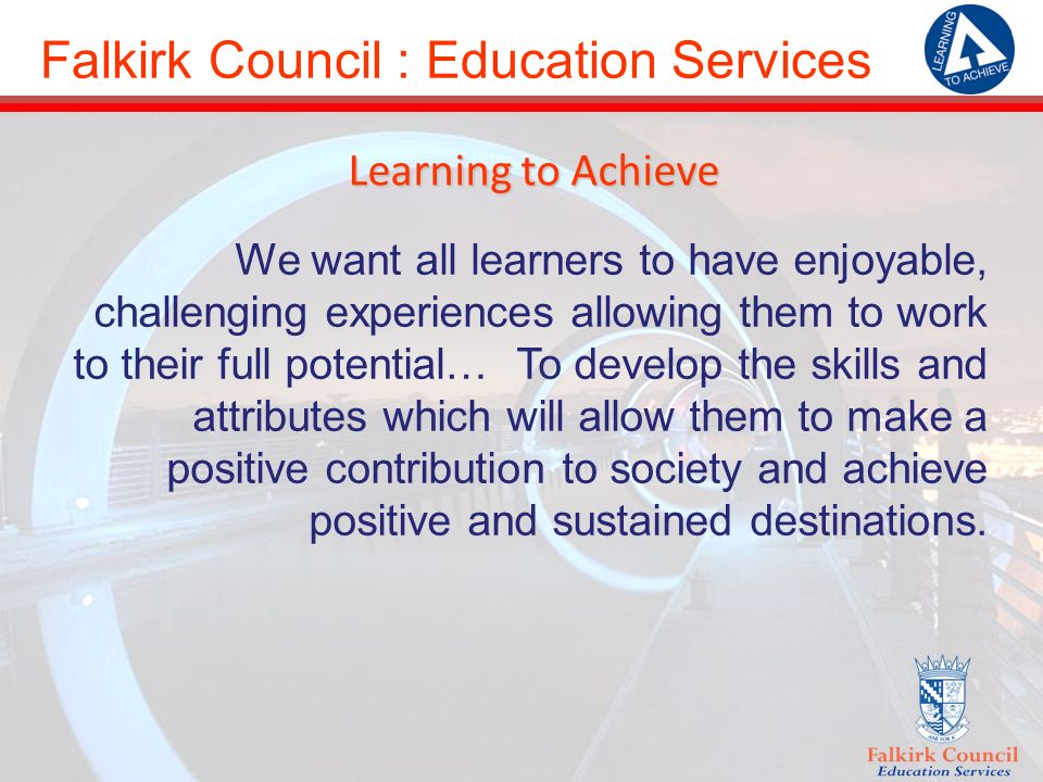 Falkirk Council : Education Services Intensive Youth Support Service: Provided by youth workers in Community Education.