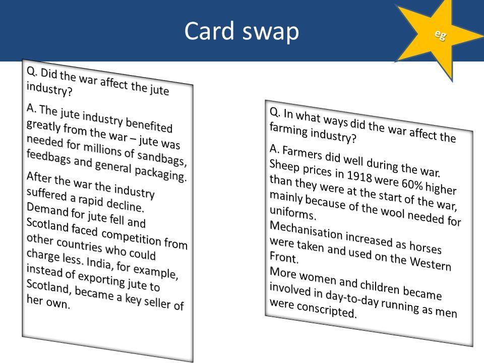 Card swap eg