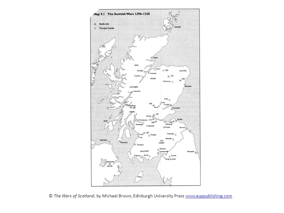 Castles and sieges Castles played an important role in the Wars of Independence. Many of Scotlands castles changed hands several times throughout the