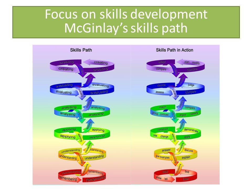 Focus on skills development McGinlays skills path