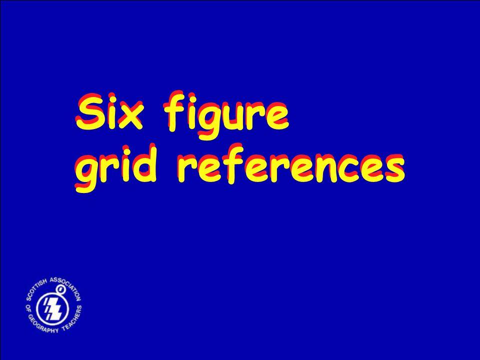 Six figure grid references Six figure grid references