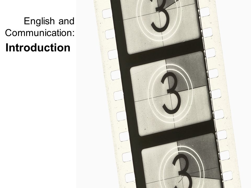 English and Communication: Introduction