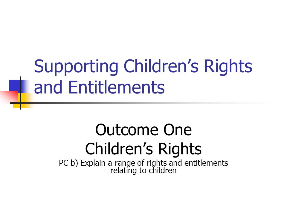 Why should children have special rights.The language of rights performs an important function.