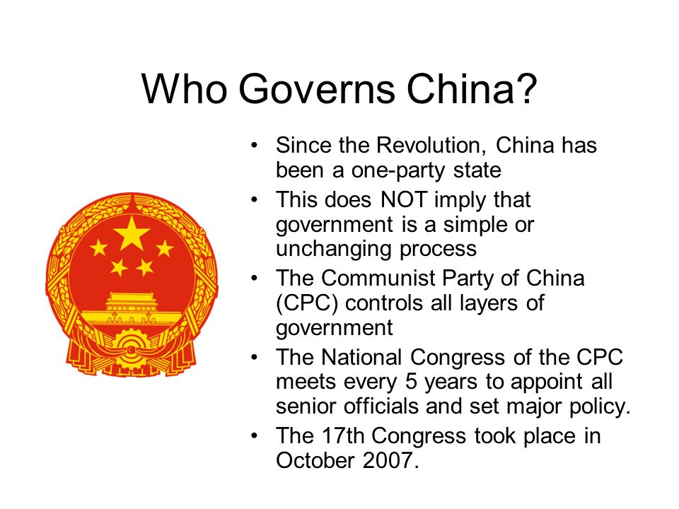 Who Governs China.