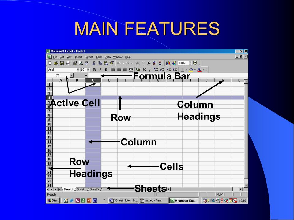 SPREADSHEET SOFTWARE Spreadsheets help with presentations - charts and graphs can be created.