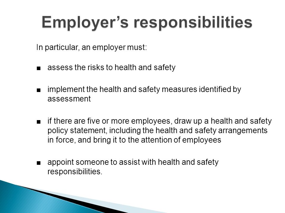 Employees have legal duties too.