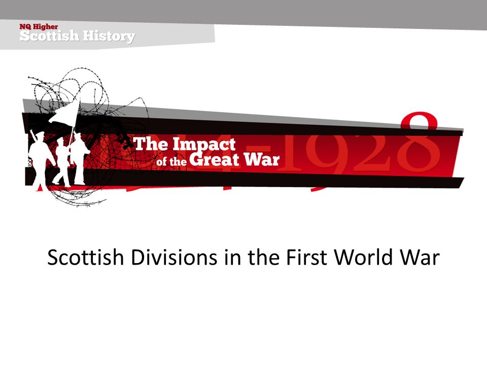 Scottish Divisions in the First World War