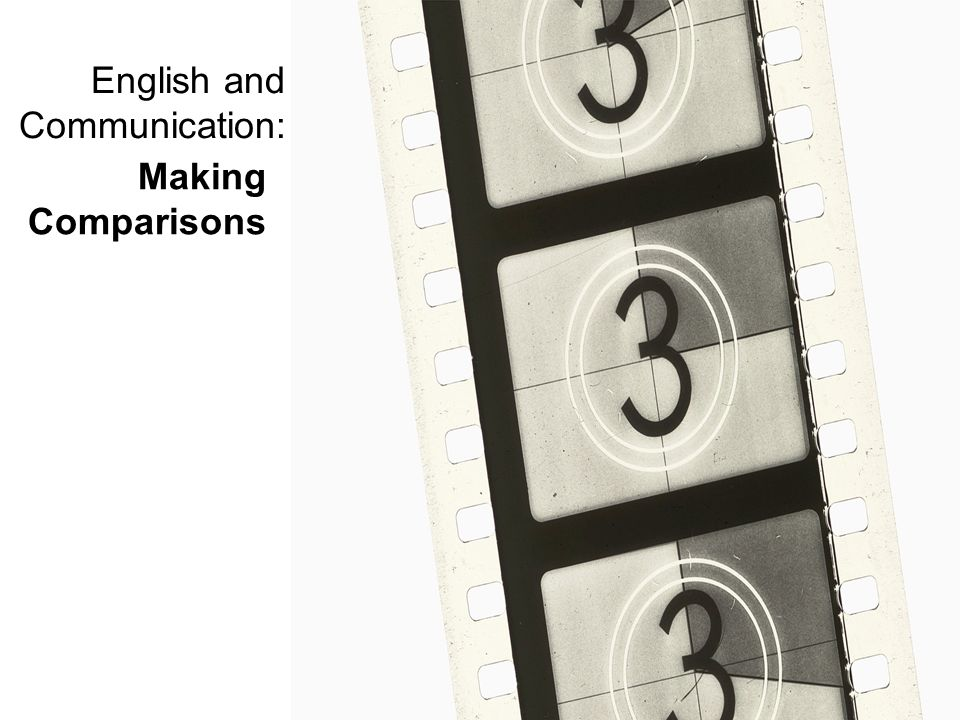 English and Communication: Making Comparisons